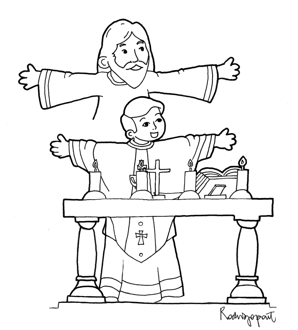 catholic coloring pages for mass - photo#11