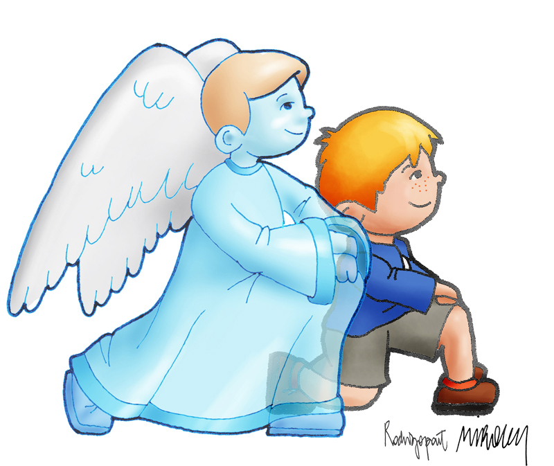 angel-niño-genuflexion-adorar-arguments-catequesis-miroug