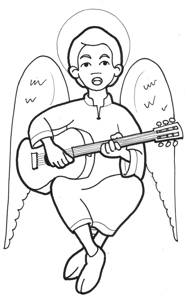 Ángel guitarra-ángel-músico-arguments-catequesis-miroug